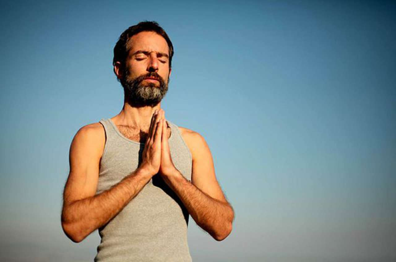 man yoga workshop